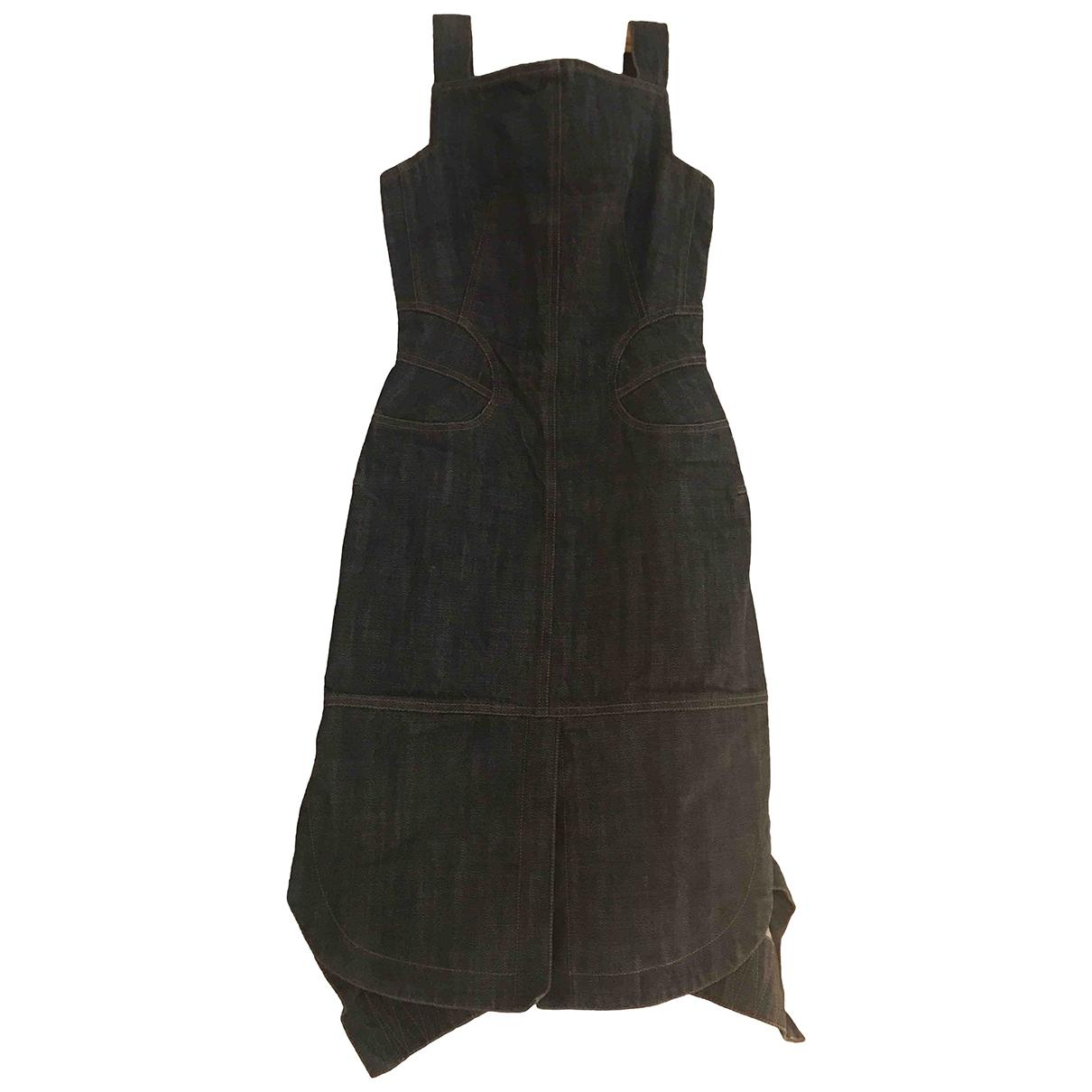 Alaia - Robe   pour femme en coton - bleu