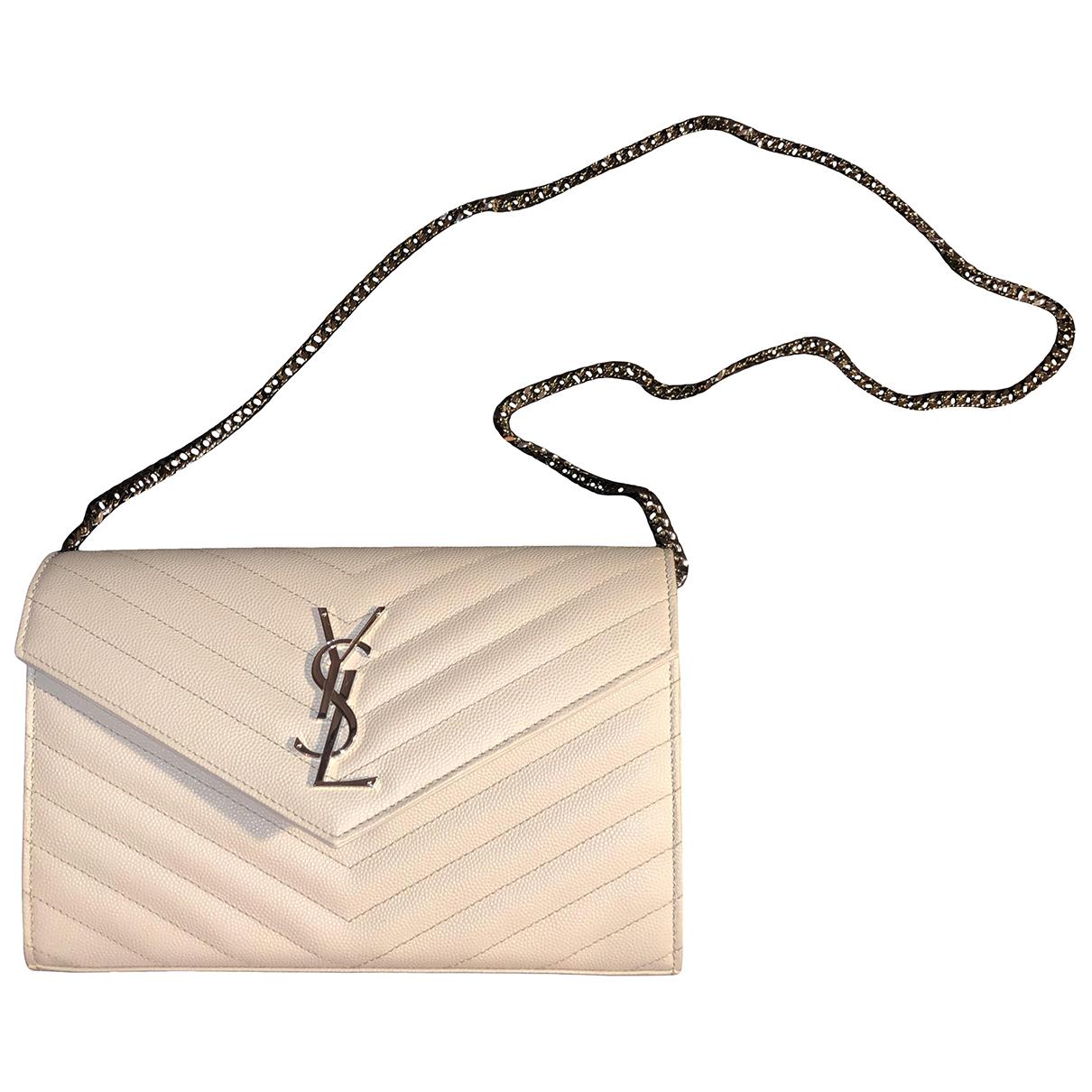Pochette Portefeuille enveloppe de Cuero Saint Laurent