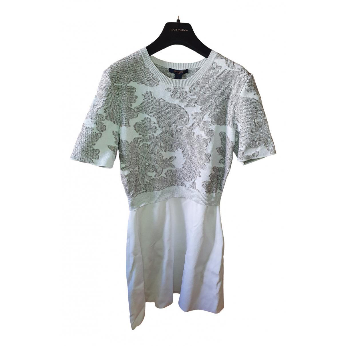 Louis Vuitton - Robe   pour femme en coton - blanc