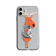 iPhone Schutzhuelle mit Weihnachten Hirsch Muster