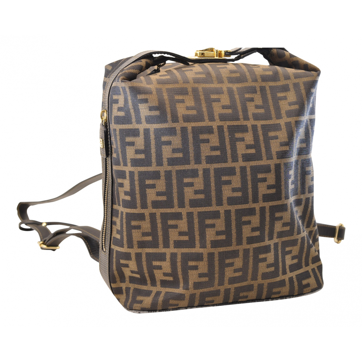 Fendi N Brown Cloth backpack for Women N