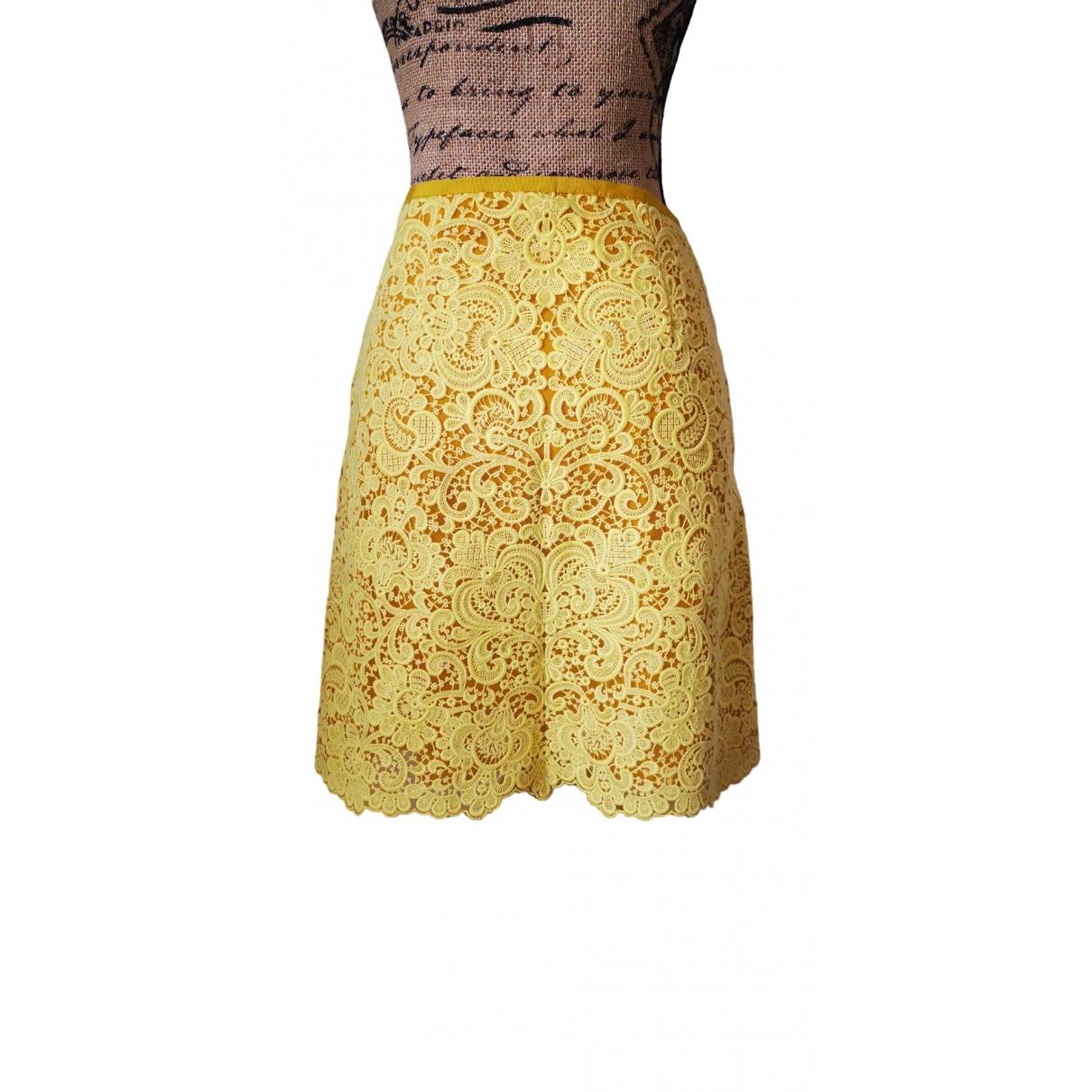 Karen Millen - Jupe   pour femme en coton - jaune