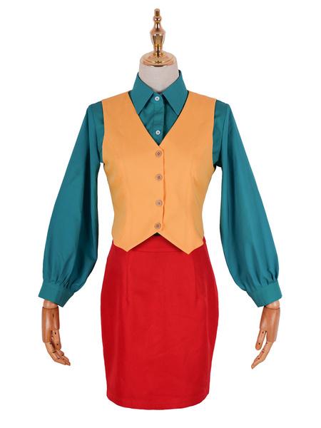 Milanoo DC Comics Joker Women Outfit Cosplay Costume Halloween