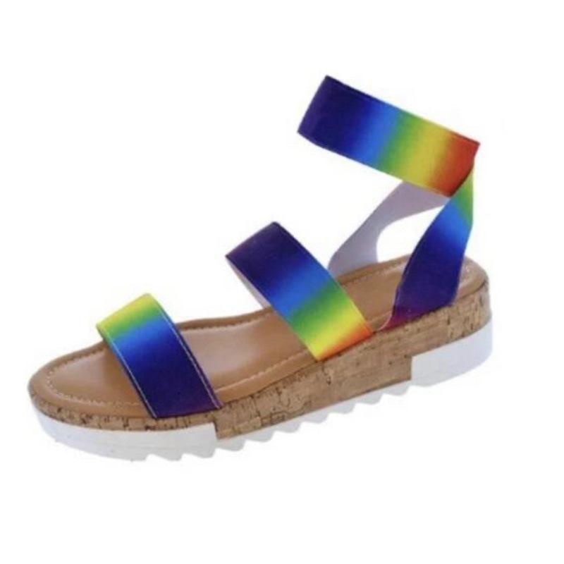 Ericdress Platform Slip-On Open Toe Gradient Sandals