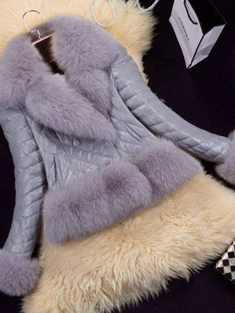 Ericdress Standard PU Slim Fall PU Jacket