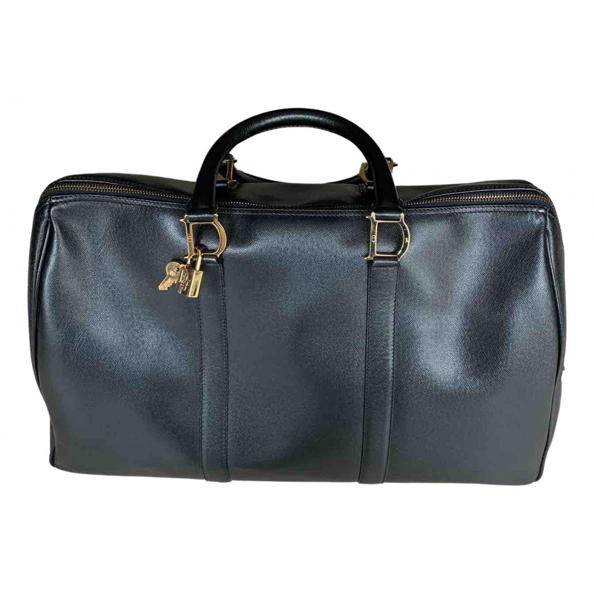 Dior - Sac de voyage   pour femme en cuir - noir