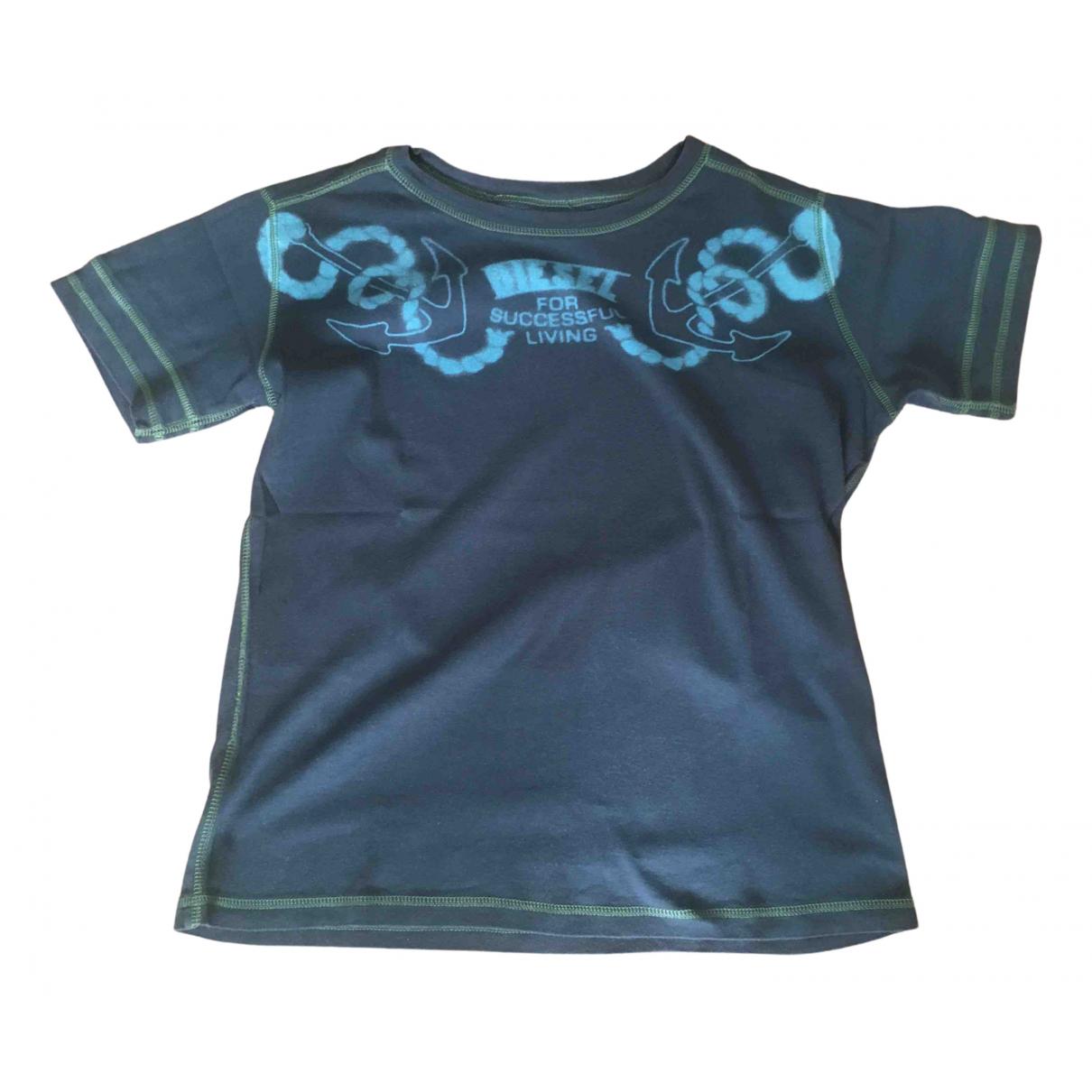 Diesel - Top   pour enfant en coton - noir