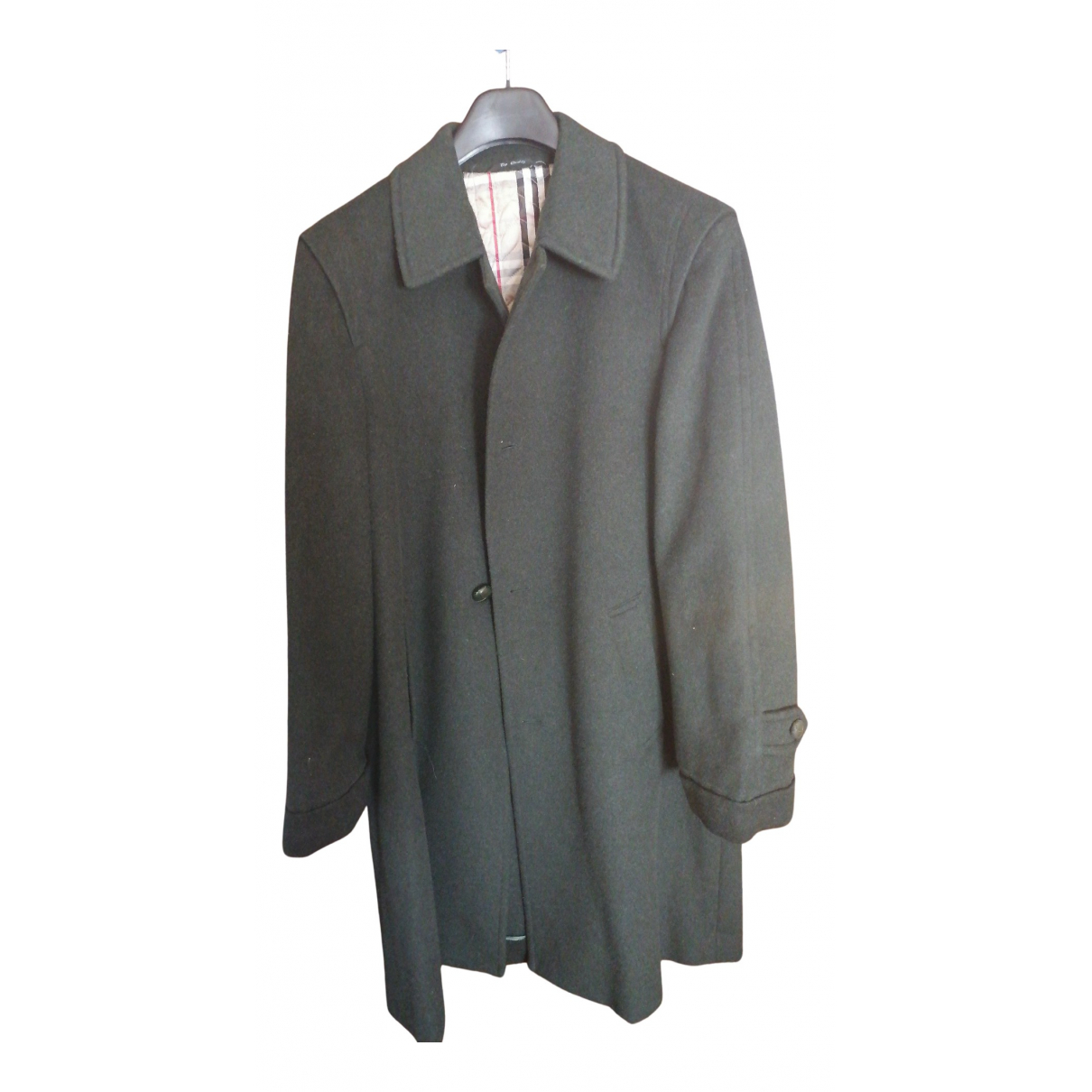 Non Signé / Unsigned N Green Wool coat  for Men 46 IT