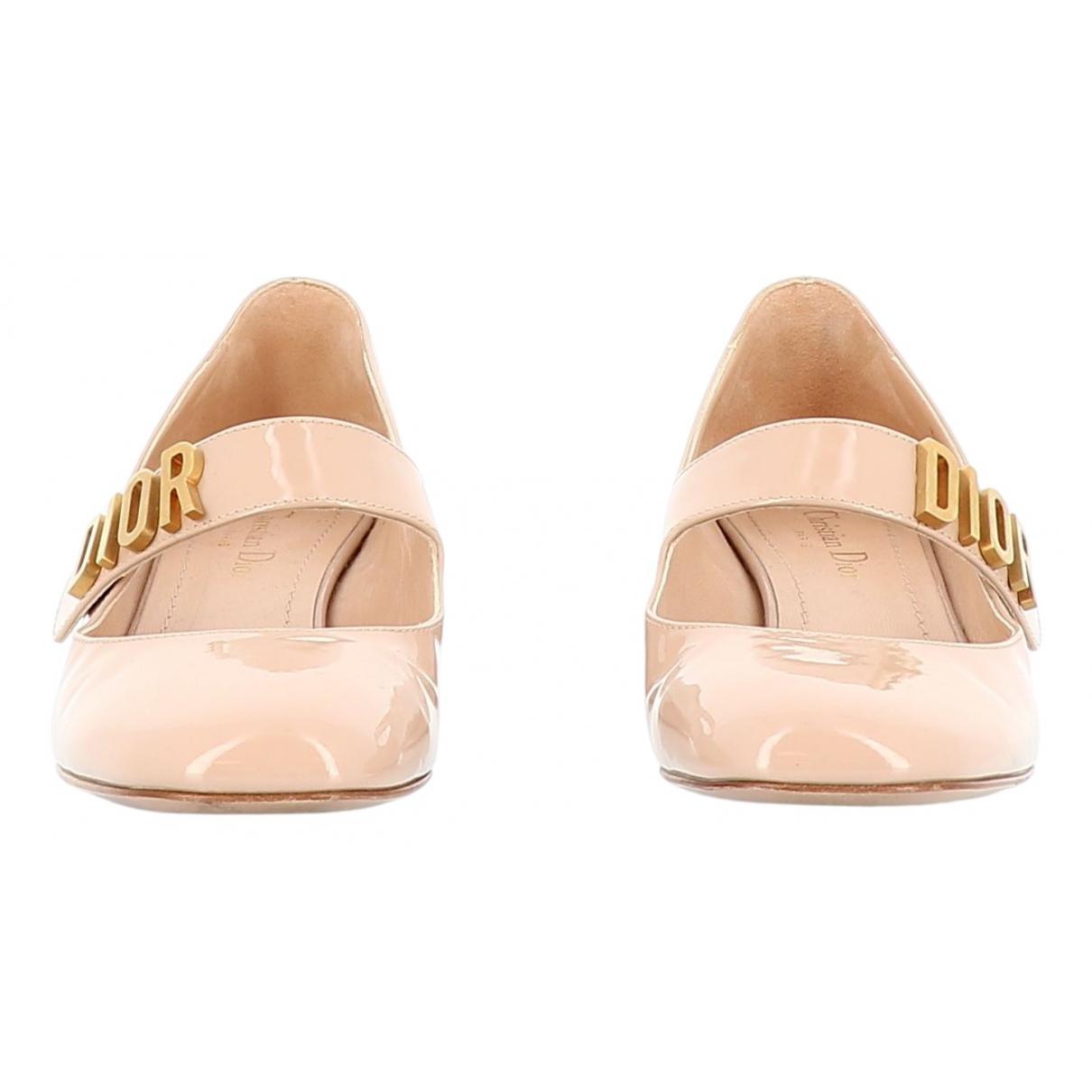 Dior \N Beige Patent leather Heels for Women 38.5 EU