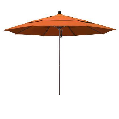 ALTO118117-5417-DWV 11' Venture Series Commercial Patio Umbrella With Matted White Aluminum Pole Fiberglass Ribs Pulley Lift With Sunbrella 2A Tuscan
