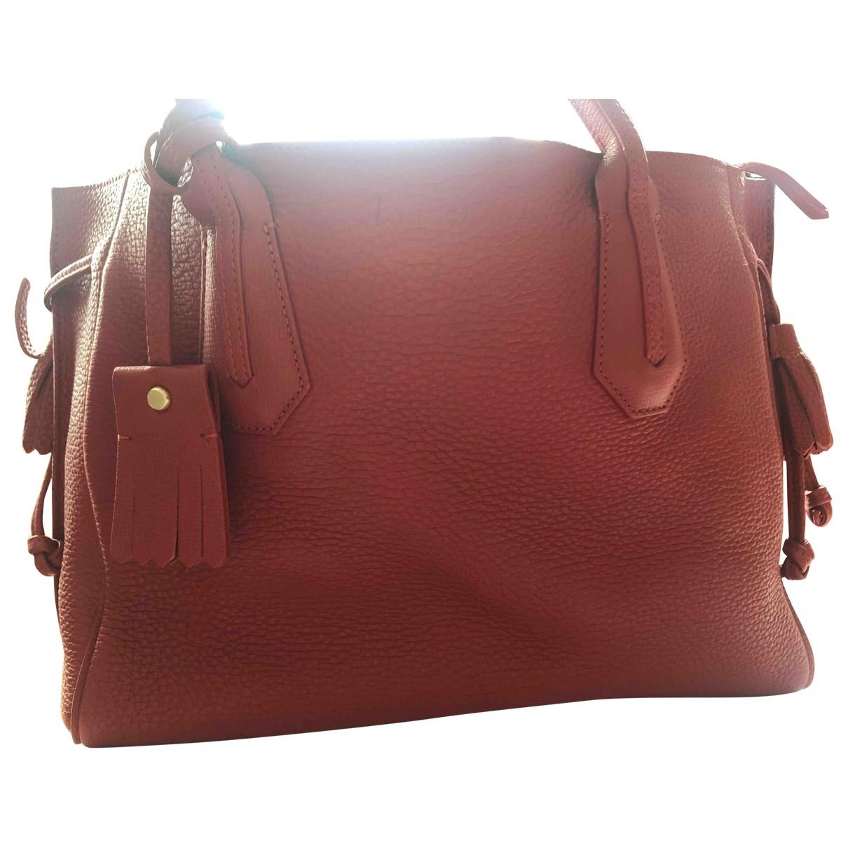 Longchamp Penelope  Handtasche in  Rot Leder
