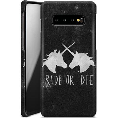 Samsung Galaxy S10 Plus Smartphone Huelle - Ride or Die von Leah Flores