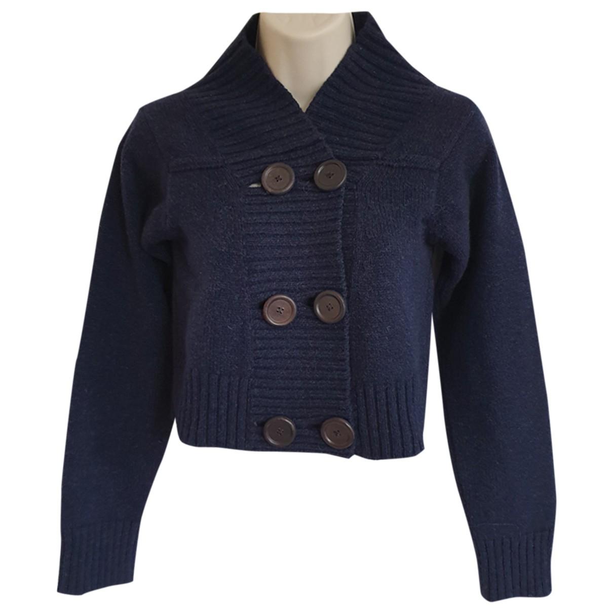 Chloe - Pull   pour femme en laine - marine