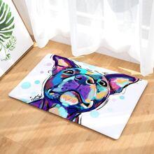 Watercolor Dog Print Floor Mat