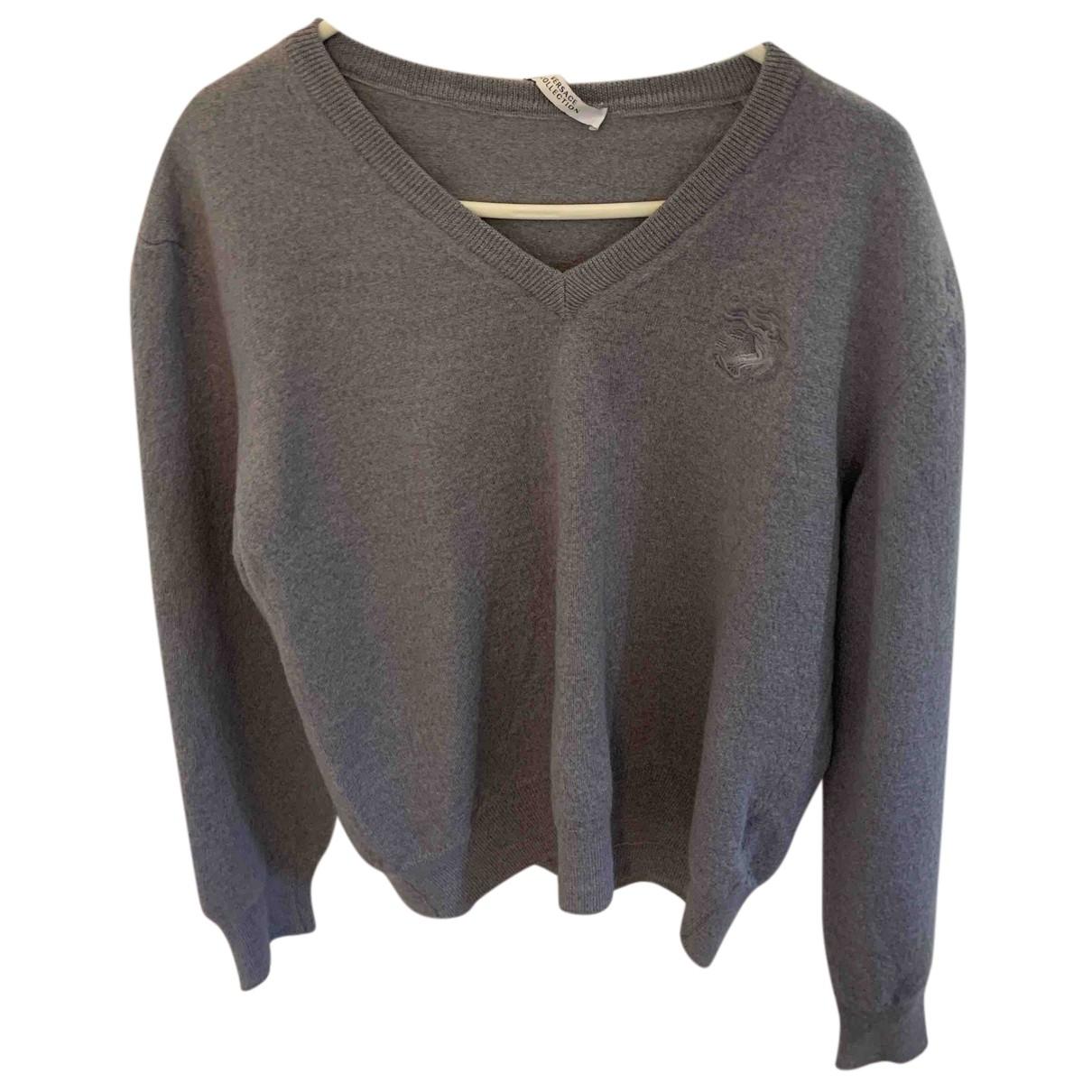 Gianni Versace N Grey Wool Knitwear for Kids 12 years - XS UK
