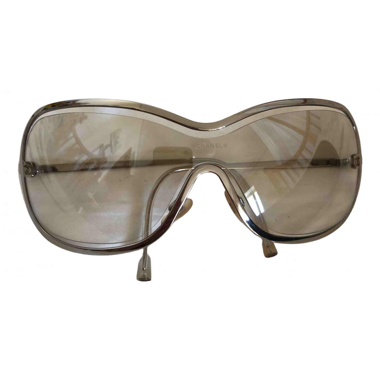 Chanel \N Sonnenbrillen in  Silber Metall