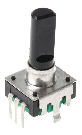 Bourns 24 Pulse Incremental Mechanical Rotary Encoder with a 6 mm Flat Shaft, Through Hole