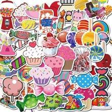 50 Stuecke Zufaelliger Aufkleber mit Dessert Muster
