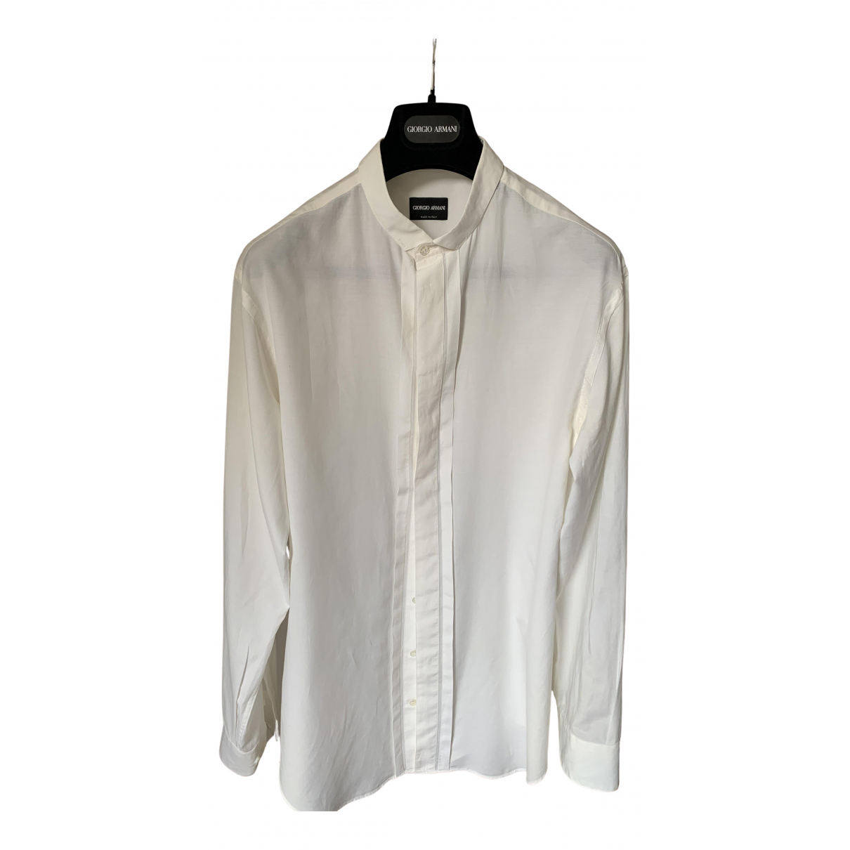 Giorgio Armani - Chemises   pour homme en coton - blanc