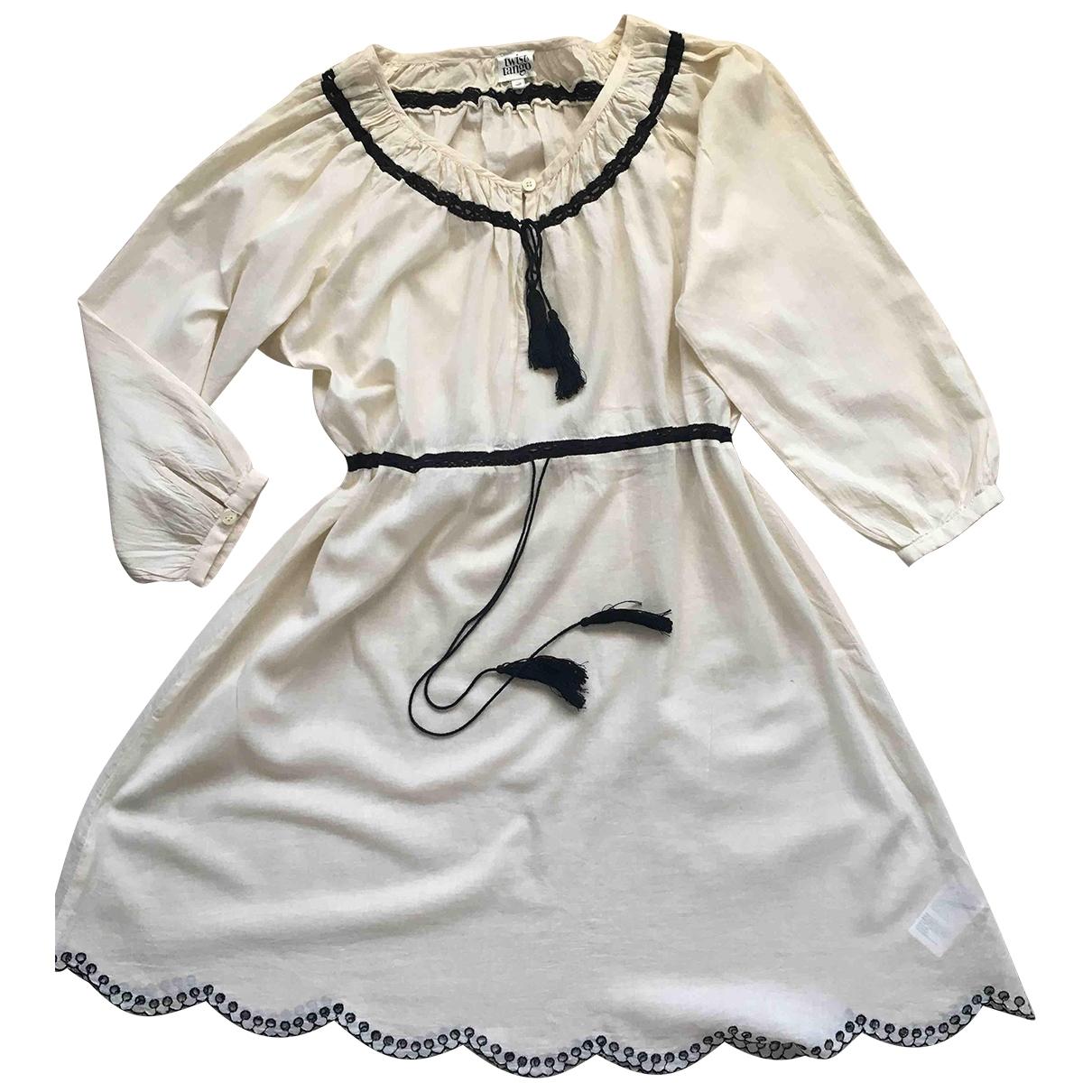 Twist & Tango \N Kleid in  Beige Baumwolle