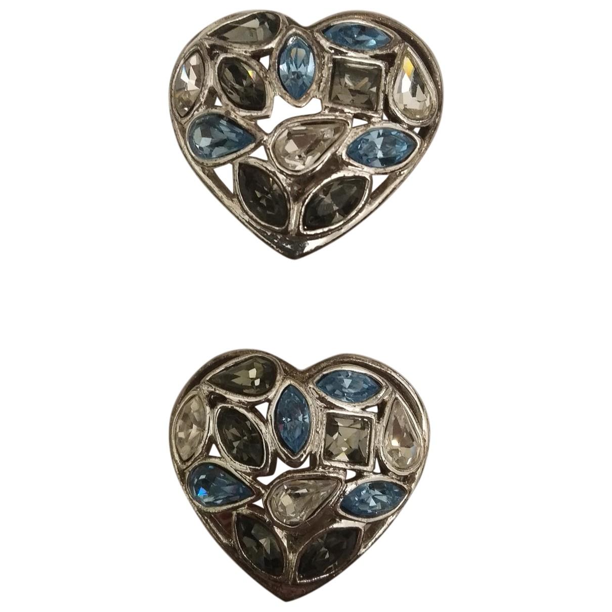 Yves Saint Laurent N Silver Metal Earrings for Women N