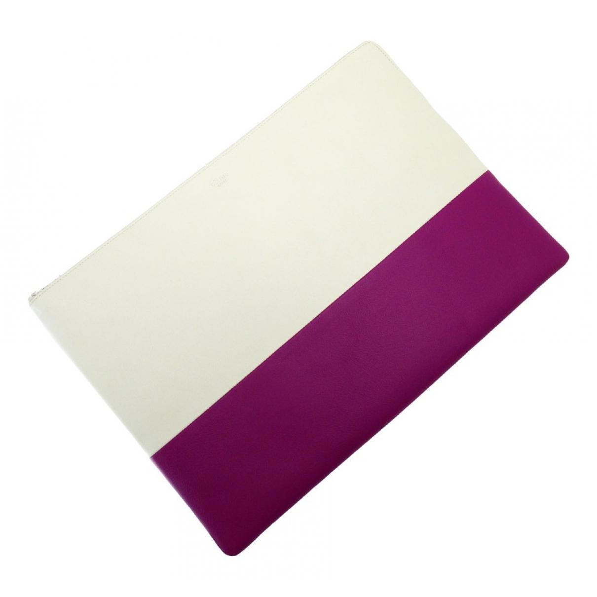 Celine - Pochette   pour femme en cuir - violet