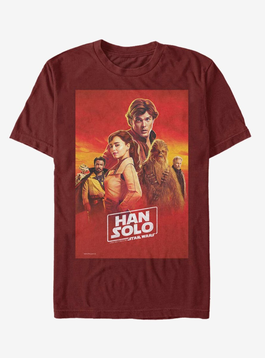 Solo: A Star Wars Story Spanish Han Poster T-Shirt