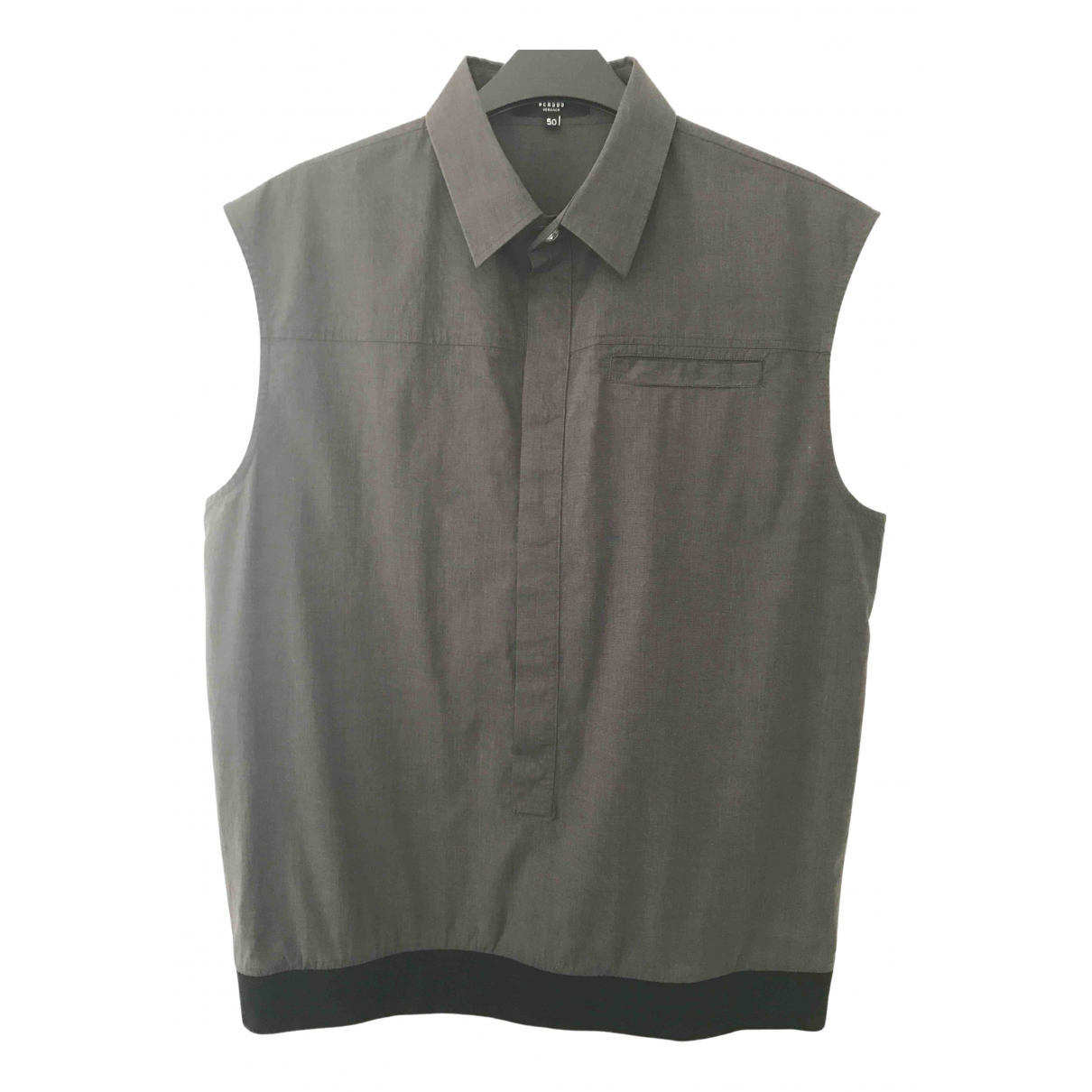Versus \N Grey Cotton Shirts for Men S International