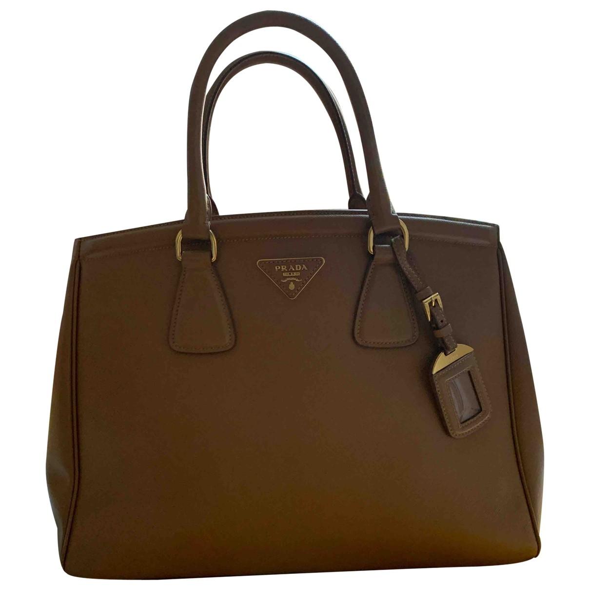 Prada Galleria Camel Leather handbag for Women \N