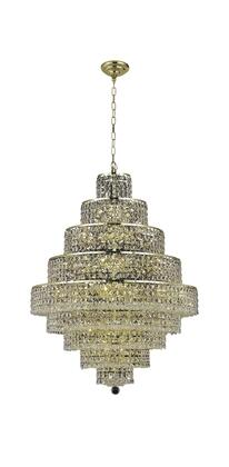 2039D30G/RC 2039 Maxim Collection Hanging Fixture D30in H41in Lt: 28 Gold Finish (Royal Cut