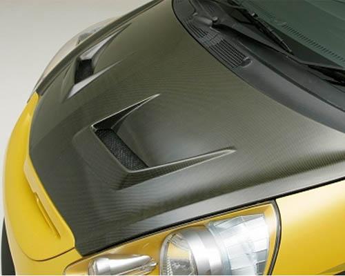 Js Racing Type V Full Carbon Hood Honda Fit 01-08