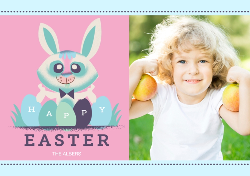 Easter Cards 5x7 Cards, Premium Cardstock 120lb with Scalloped Corners, Card & Stationery -Easter Eggs