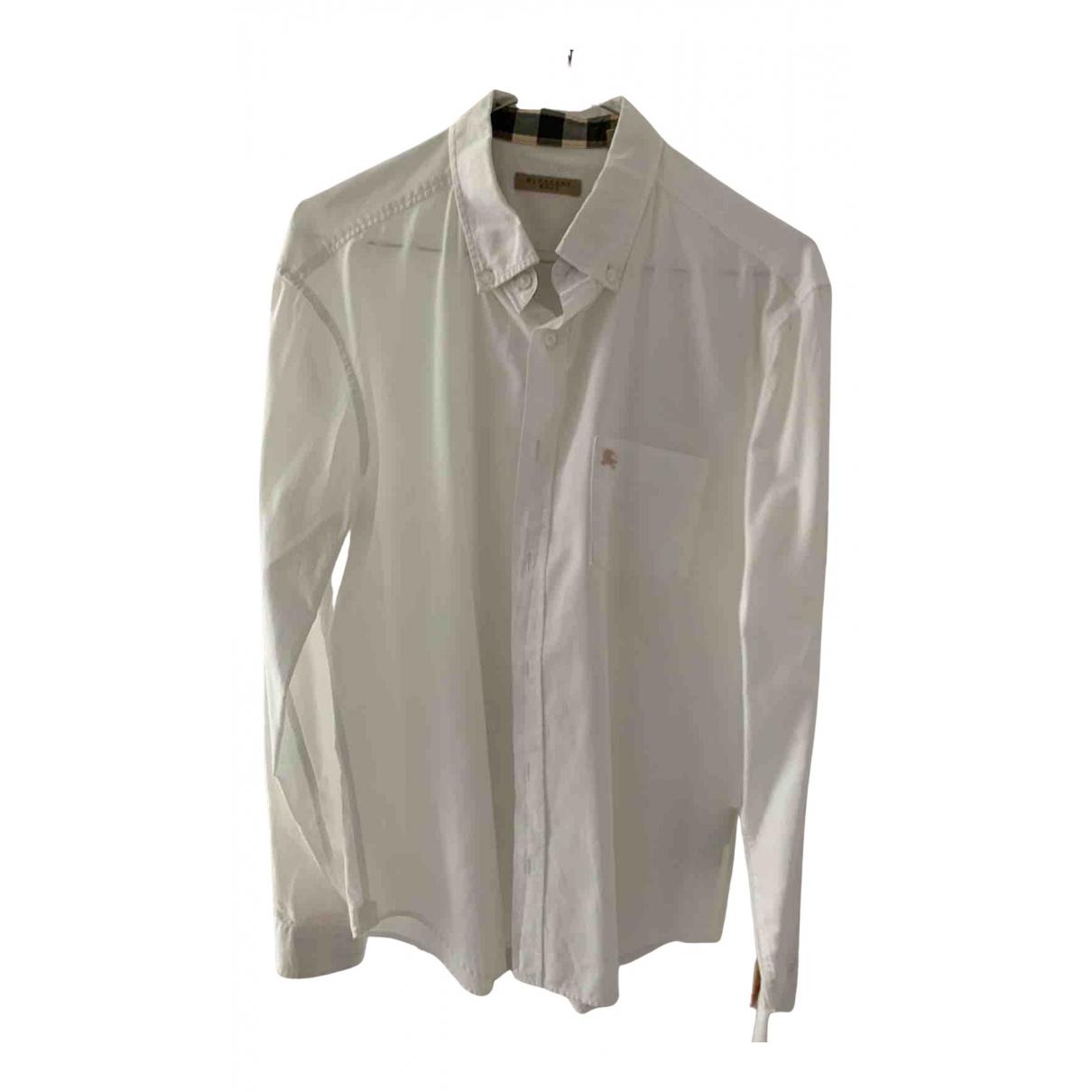 Burberry N White Cotton Shirts for Men M International