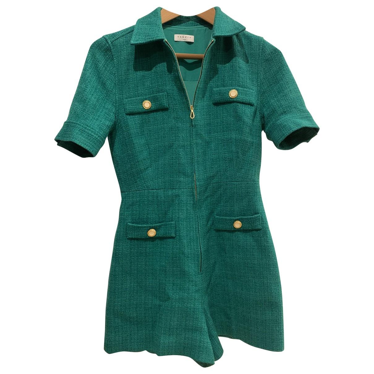 Sandro - Combinaison   pour femme en laine - vert