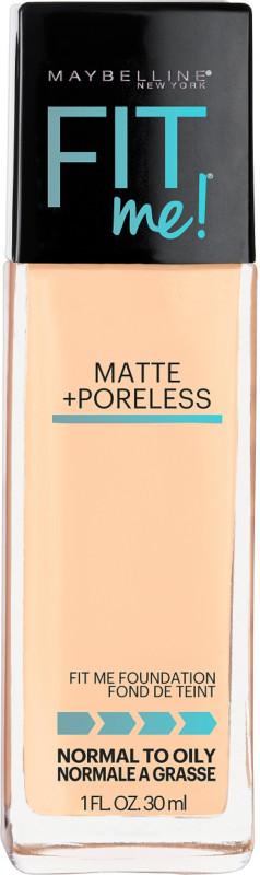 Fit Me Matte + Poreless Liquid Foundation - Warm Nude 128