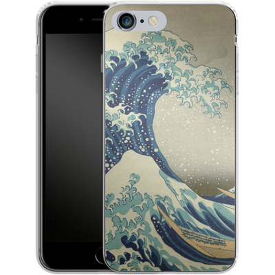 Apple iPhone 6 Plus Silikon Handyhuelle - Great Wave Off Kanagawa By Hokusai von caseable Designs