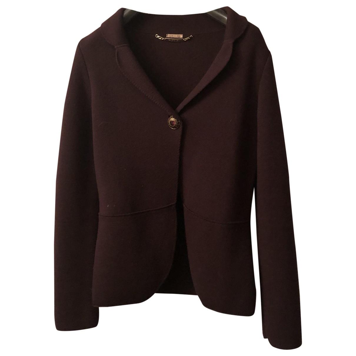 Falconeri - Veste   pour femme en laine - violet