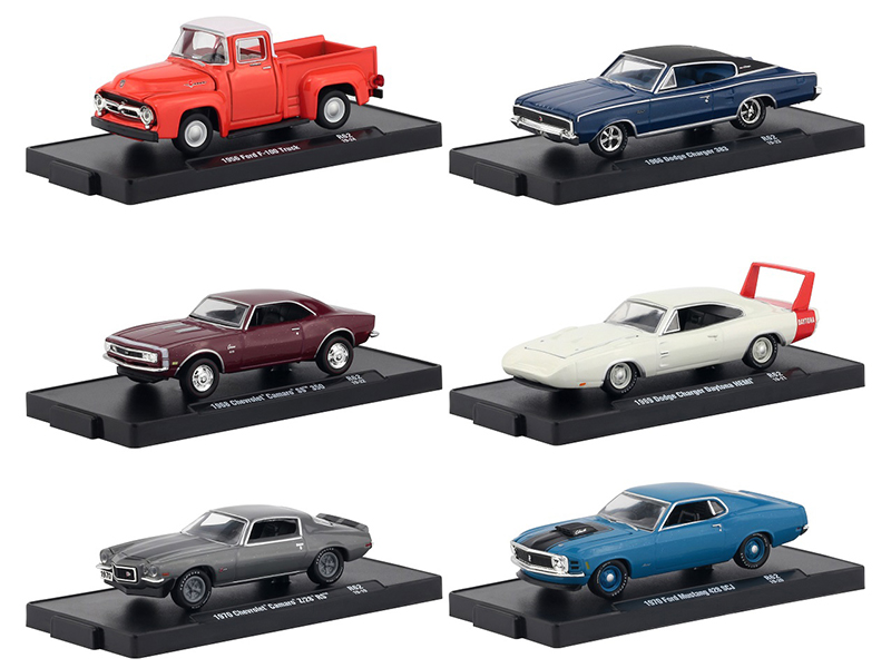 Drivers 6 Cars Set Release 62 in Blister Packs 1/64 Diecast Model Cars by M2 Machines