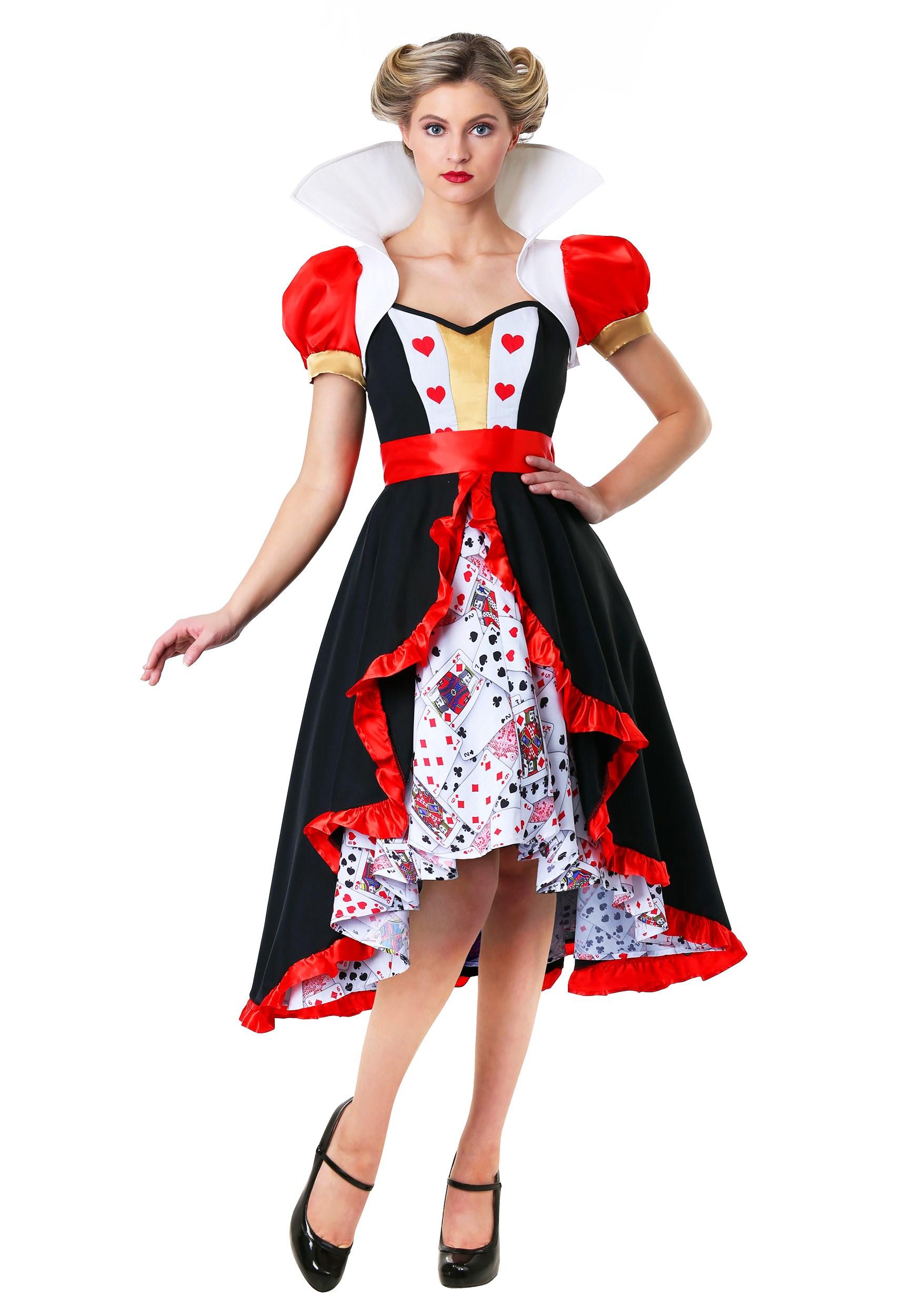 Flirty Queen of Hearts Costume for Women