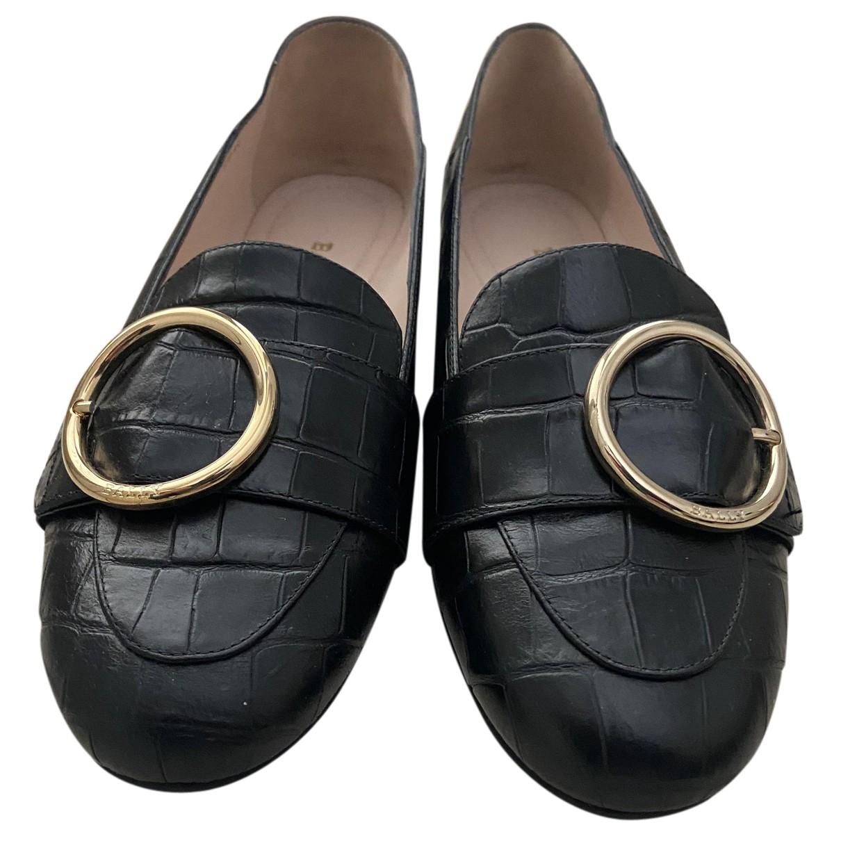 Bally - Ballerines   pour femme en cuir - noir
