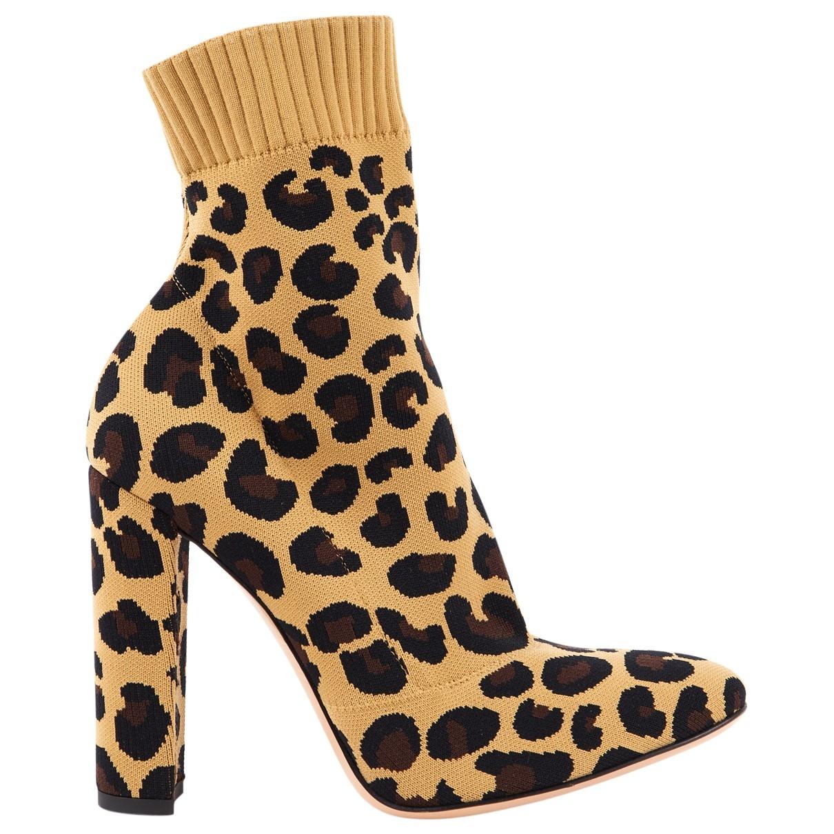 Gianvito Rossi - Boots   pour femme en toile - beige