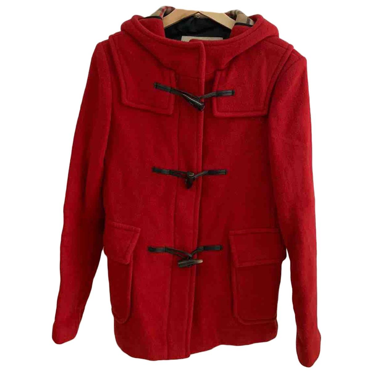Burberry - Veste   pour femme en laine - rouge