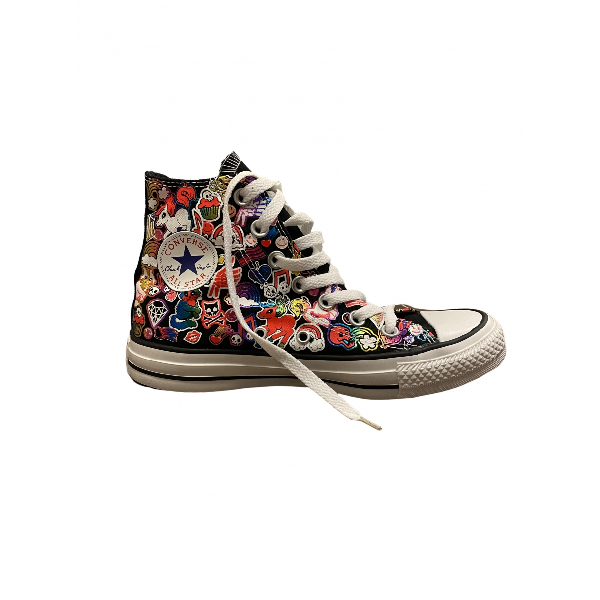 Converse \N Black Cloth Trainers for Women 4 UK