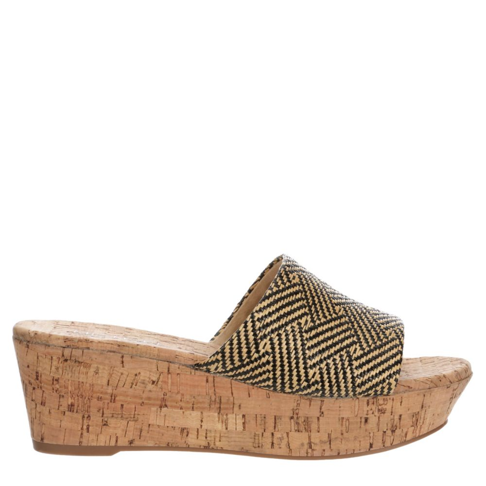 Michael By Shannon Womens Ibiza Wedge Slide Sandals