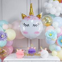 1 Stueck Ballon mit Einhorn Design