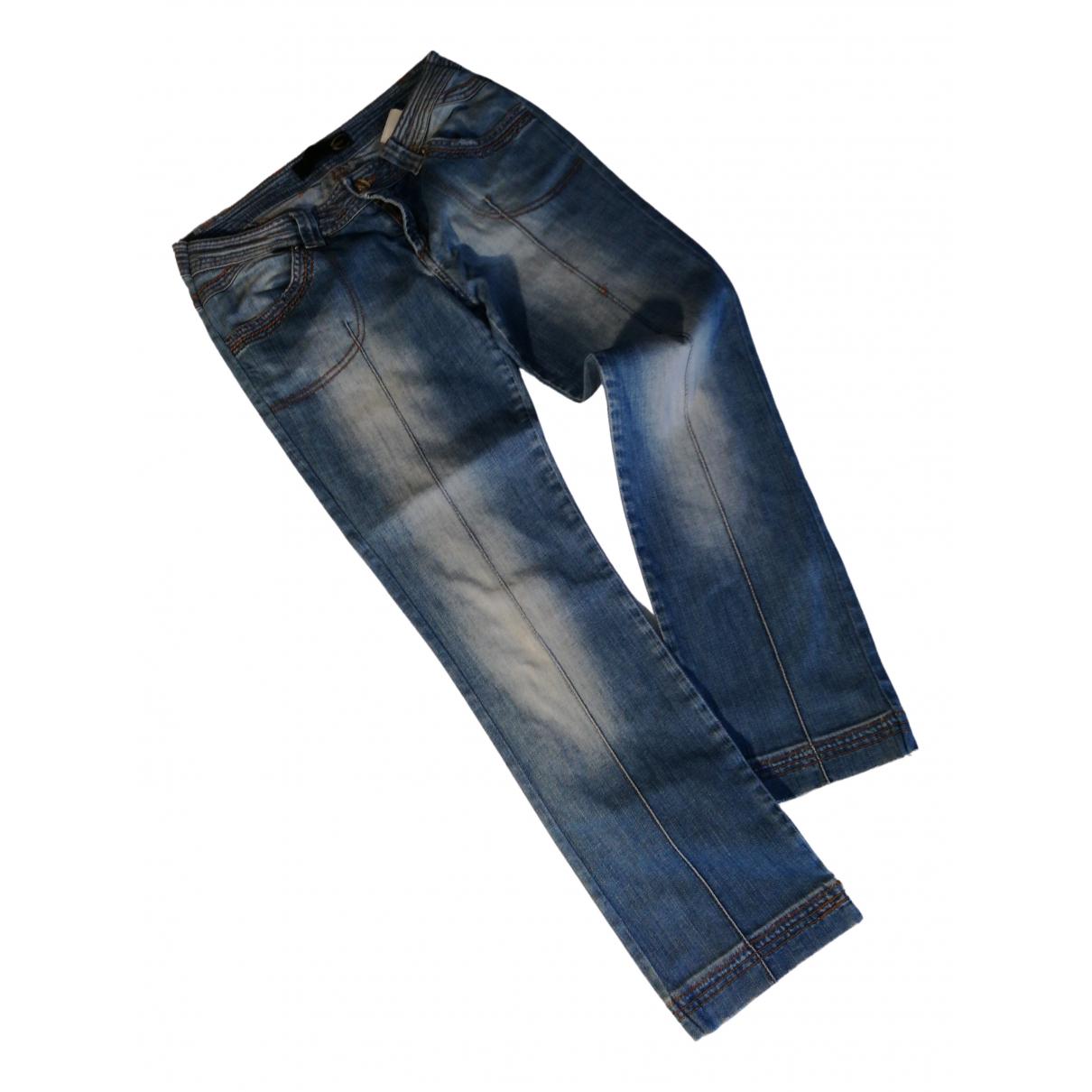 Just Cavalli \N Blue Denim - Jeans Trousers for Women 44 IT