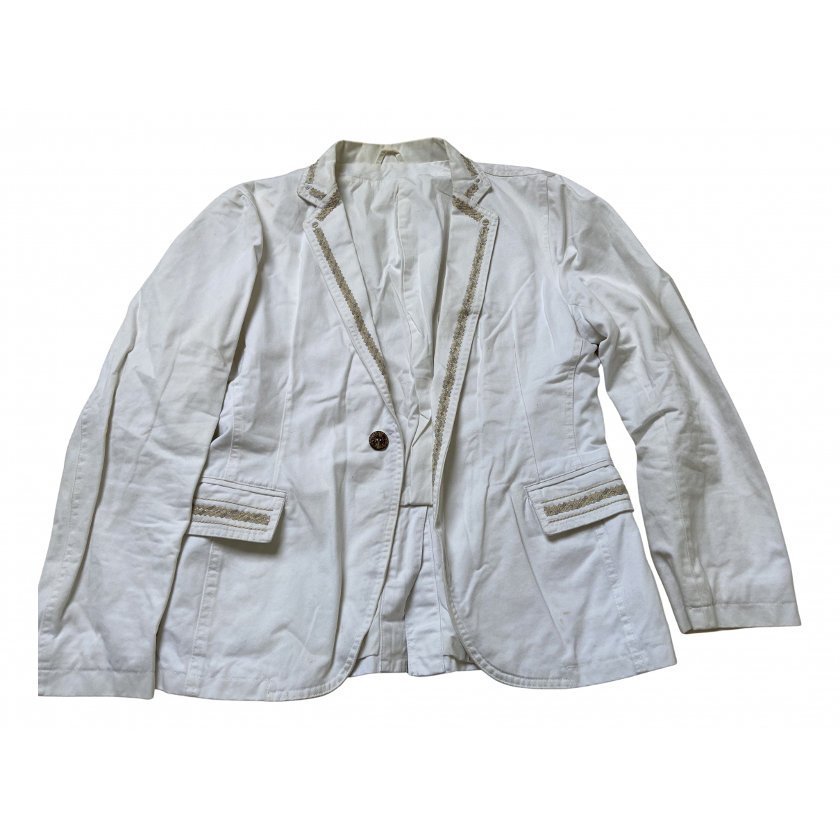 Pigalle N White Cotton jacket  for Men M International