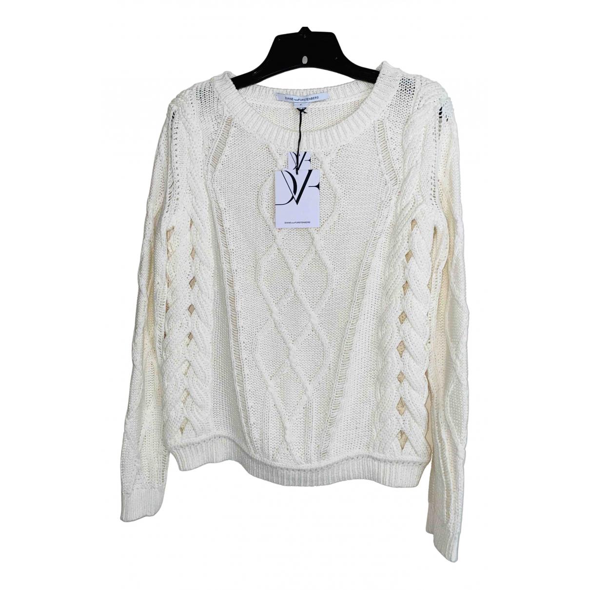 Diane Von Furstenberg - Pull   pour femme en coton - blanc