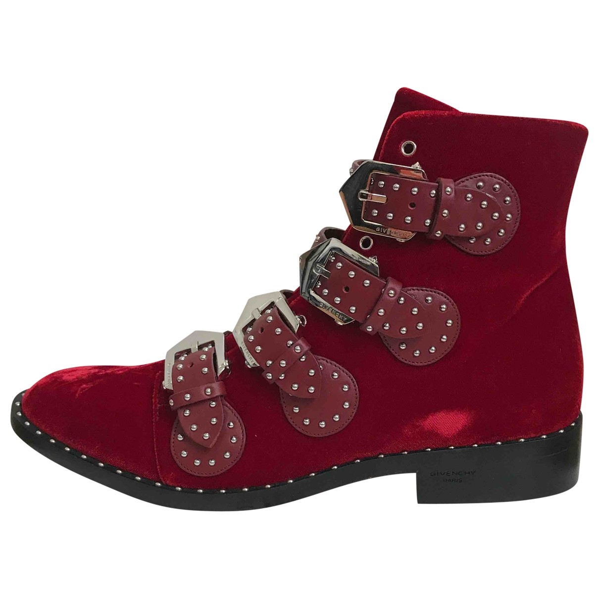 Givenchy \N Red Velvet Ankle boots for Women 40 EU