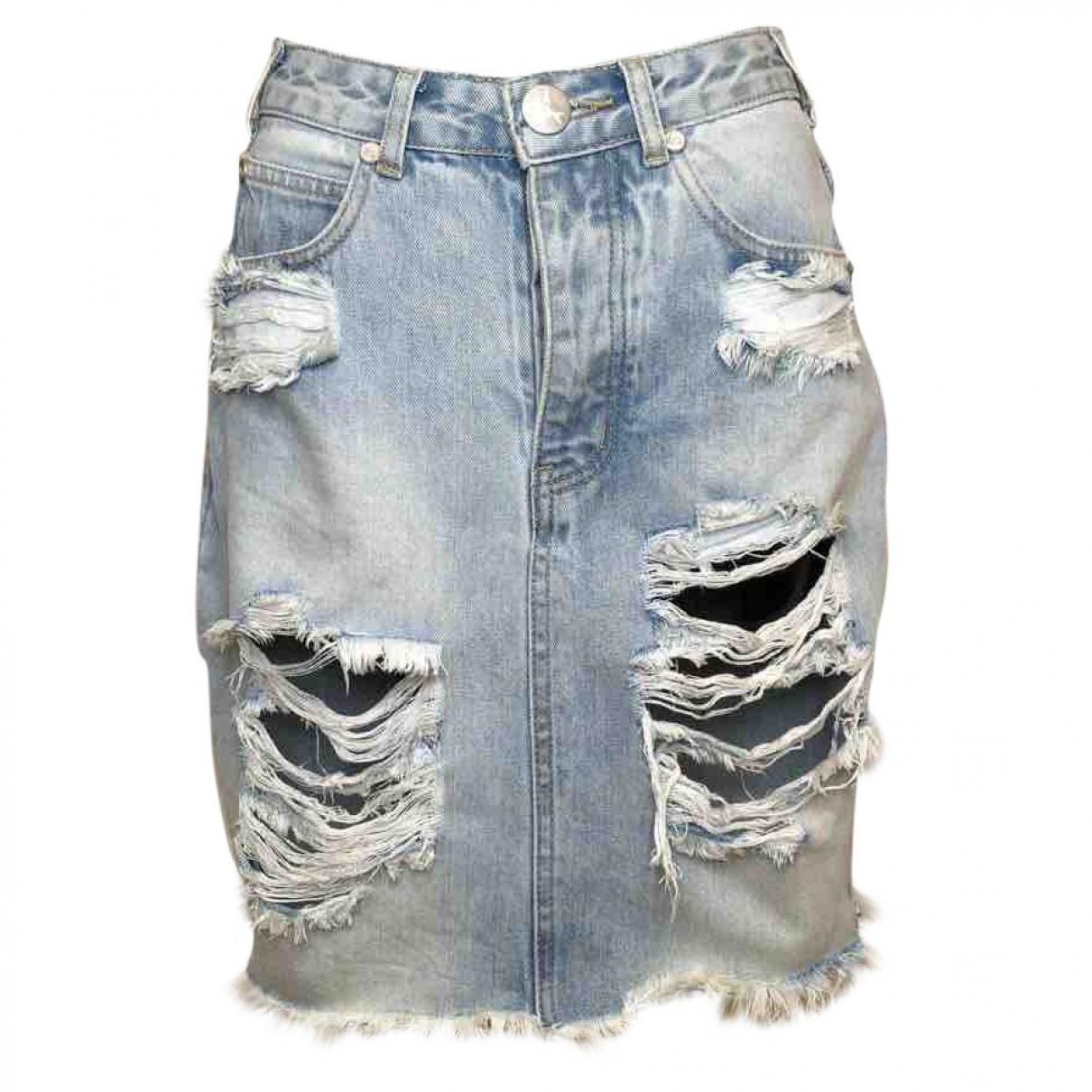 One Teaspoon \N Blue Cotton skirt for Women S International